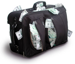 Suitcase of money