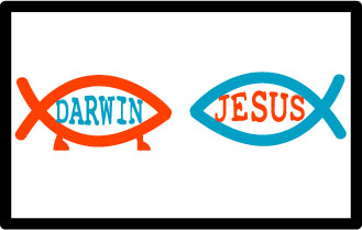 Fish Wars: the Darwin fish and the Jesus fish