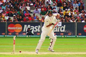 Andrew Symonds, declared 'Man of the Match' in the Sydney Test, January 2008. But one of his Indian opponents, Harbhajan Singh, called him a 'monkey'.