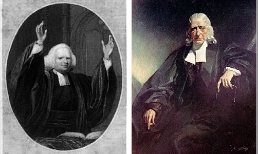 George Whitfield and John Wesley