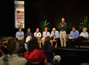 CMI-USA's Dr Rob Carter answering an audience question alongside other panel members.