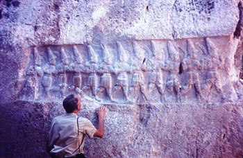 Relief of Hittite gods at Yazilikia