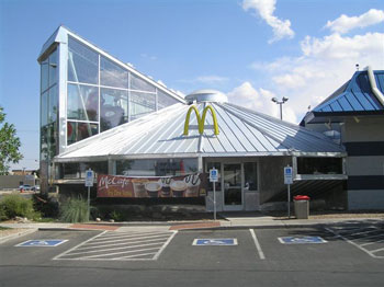 The hotels, the fast food chains, including one McDonalds restaurant in the shape of a flying saucer, are all riding the UFO wave that brings millions of dollars to this town each year.