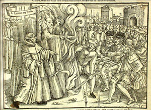 Thomas Cranmer initially recanted but was later burned alive anyway. He withdrew his recantation and thrust the hand with which he signed the recantation into the flame while uttering the words 'This unworthy right hand.' He then steadily lifted his left hand toward heaven as the flames took the life from his body.