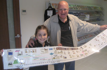 Maddi and Grandad with her finished world timeline
