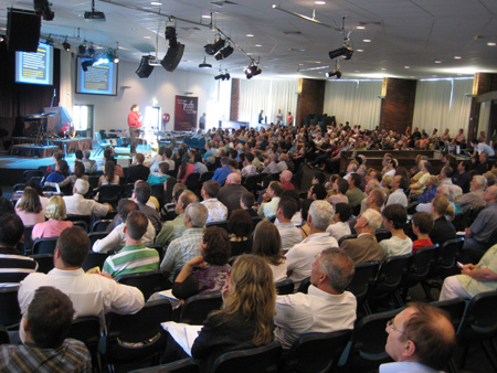 Nearly 500 people attended the Countering the Rise of Atheism seminar in Melbourne.