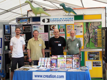 From Left to right Ross Peeters (CMI Staffer) and from Hamilton Support group Peter Dennis, Mike Cook and John Thorpe