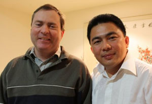 Dr Catchpoole with the Brisbane pastor of his Indonesian-language church, Jerry Sanger