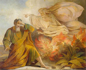 God Appears to Moses in Burning Bush