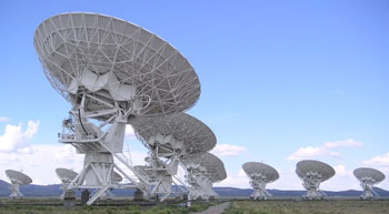 The Very Large Array (VLA) of radio telescopes in New Mexico