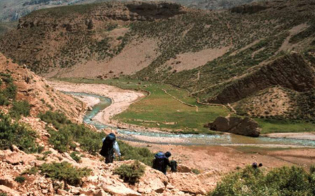 River valley in the Zagros Mountains.