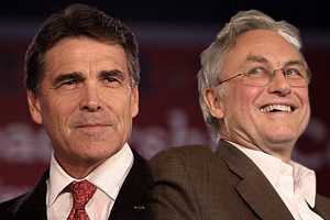 Richard Dawkins calls Governor Rick Perry a fool for saying evolution has gaps in it.