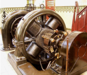 Figure 2. Wiring in an electric generator is complex. Photo: Wickipedia