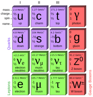 The Standard Model of elementary particles,