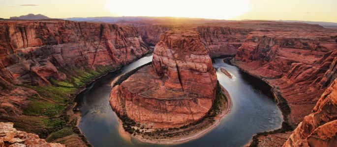 Figure 1. Horse Shoe Bend is a spectacular geological twist carved into the Colorado Plateau near Page, Arizona.