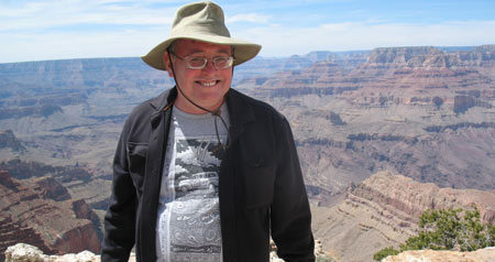 Prof Donald Prothero at the Grand Canyon