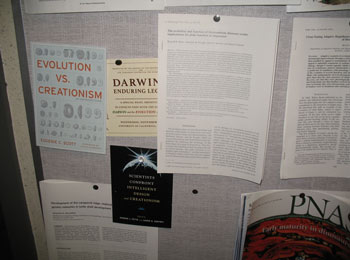 Anti-creation and intelligent design meeting posters