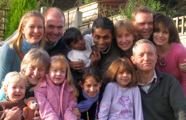 Dr Gurney, his wife Priscilla, and their extended family (2007)