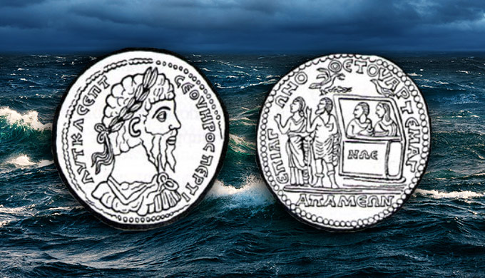 Noah's Ark on a Roman coin!