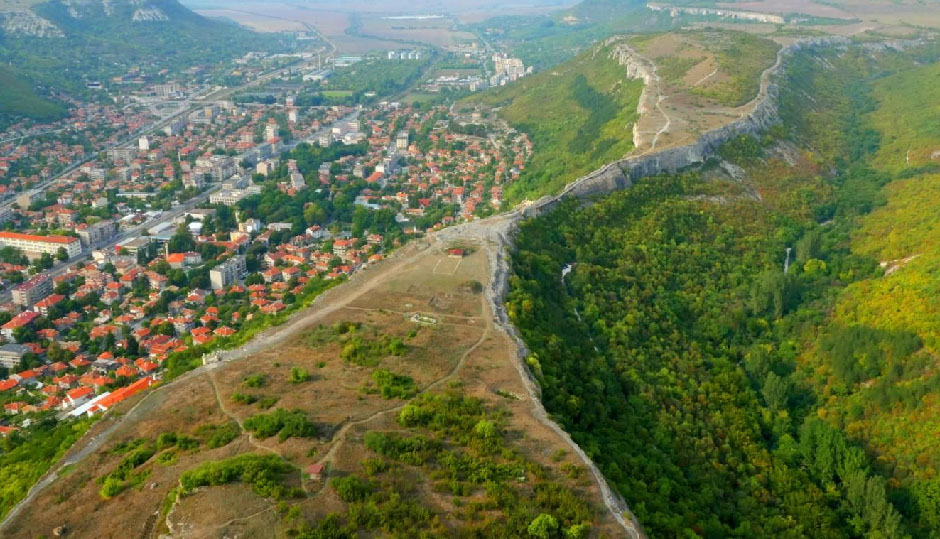 The remarkable landscape around Provadia, Bulgaria