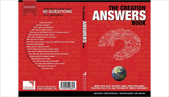 The Creation Answers Book: Index - creation com