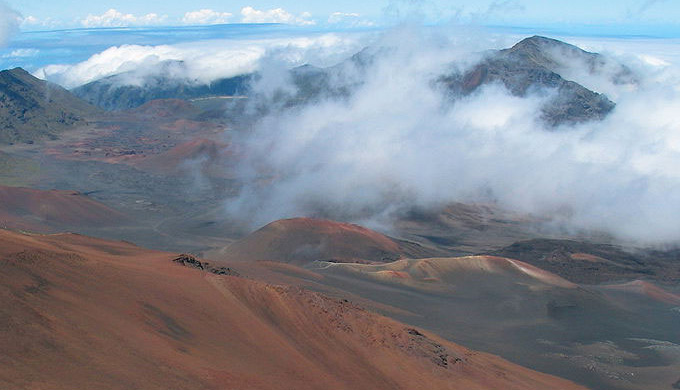 Haleakala volcano on the Island of Maui, Hawaii