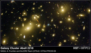 Abell 2218 galaxy cluster