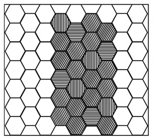 Hexagonal grating structure