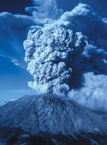 Life-destroying volcanic eruptions such as Mt St Helens  occur due to Adam's sin and the whole creation subsequently being  'subjected to futility'.