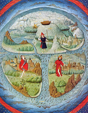 15th century view of the flat earth