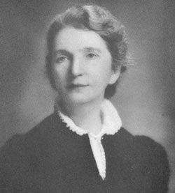 Margaret Sanger around 1938. All authorized published         photographs, including this one, were staged in an attempt to show Mrs Sanger as         a conservative, serious, middle class and very respectable lady.