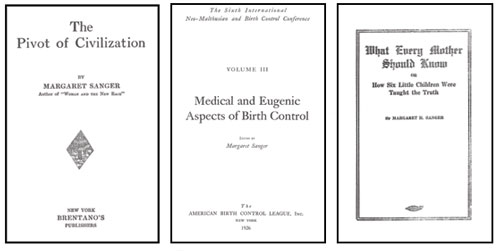 Sanger's openly eugenic books