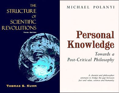Moreland and Craig make only passing, or no reference at all, to important work in the area of philosophy of science, such as Thomas Kuhn's examination of the problems regarding the scientific method and the truth claims of scientists, and Michael Polanyi's criticism of the notion that scientific method can supply us with objective truths.
