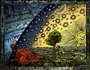 An illustration from Camille Flammarion's 1880 Astronomie Populaire.