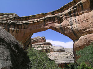 Sipapu Natural Bridge, Natural Bridge National Monument, southeast Utah, USA.