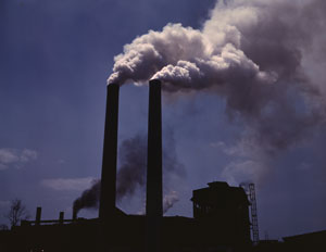 Stacks billowing white 'smoke' are often emitting only steam and not polluting the atmosphere with CO2 or particulate.