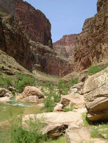 Figure 7. Havasu Canyon as seen from near the entrance to Grand Canyon.