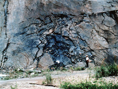 One of the uranium concentrations at Oklo