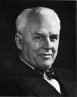 Robert Andrews Millikan, scientist, professor, and college administrator. This picture was taken around 1917 at the height of his career. When he became president of Cal Tech he was forced to move more into an administrative role, a role he only reluctantly assumed because his first love was the lab.