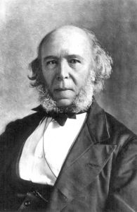 Herbert Spencer (1820–1903) was an English philosopher and political theorist who believed that social perfectibility is achievable by a science-based manipulation of the natural evolutionary process. Spencer coined the phrase 'survival of the fittest', which has been used to justify a mechanism of natural selection entailing such things as racism, eugenics, euthanasia and forced sterilisation.