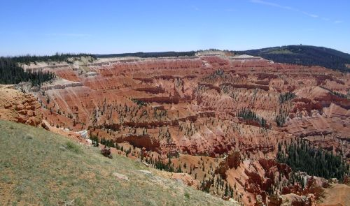 Figure 2. The Claron Formation exposed in Cedar Breaks National Monument on the western edge of the Markagunt Plateau, Utah.