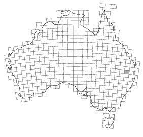 Figure 1. The 1:250,000 geological map series covers the whole of Australia. The Goondiwindi map is shaded.