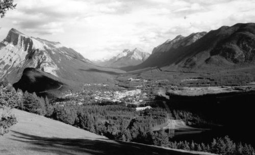 Figure 2. U-shaped glacial alpine valleys, similar to this example from Banff, Alberta, were difficult to explain by fluvial erosion.