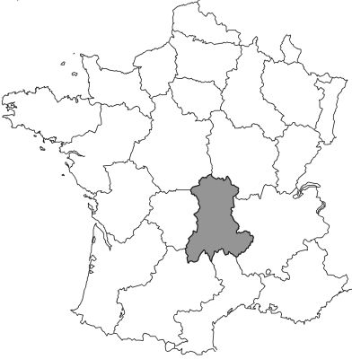 Figure 4. The Auvergne Region of France was a prominent field area for early naturalists, thanks to its volcanic terrane and eroded river valleys.