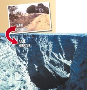'Voor' en 'Na' foto's van Burlingame Canyon