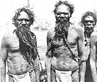 Aborigines in chains