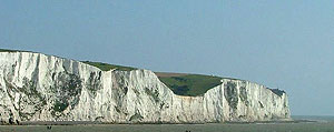 Thw white cliffs of Dover
