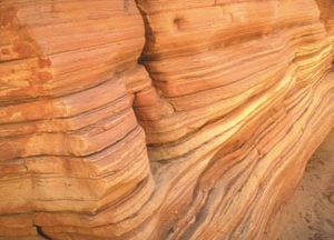 sandstone showing strata