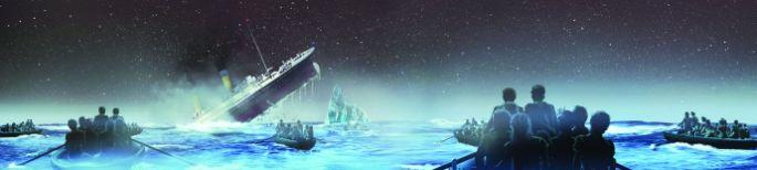 der Titanic sinken