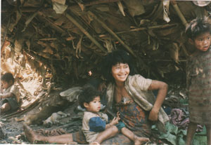 A Mlabri mother and child